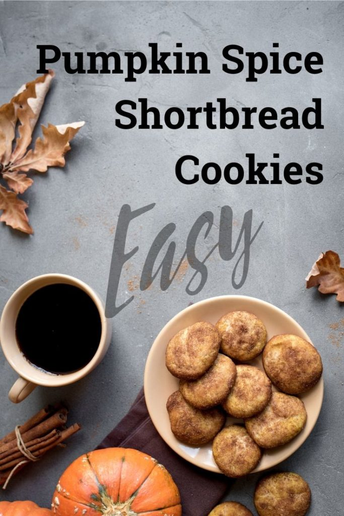 (Easy!) Pumpkin Spice Shortbread Cookie Recipe