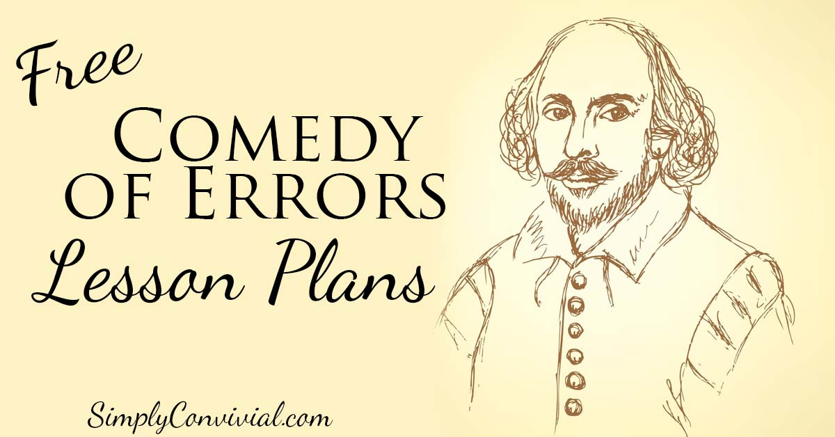 Shakespeare's The Comedy of Errors resources and lesson plans to help kids fall in love with Shakespeare and enjoy this hilarious play!