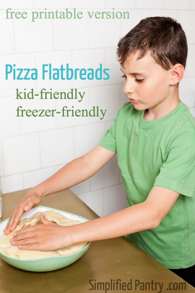 Free Recipe: Pizza Flatbread - Easy Kid Lunch - Freeze for fast lunches!