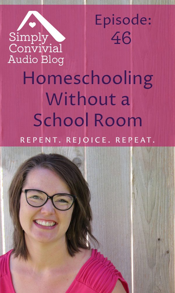 You need to find homes for the homeschool stuff