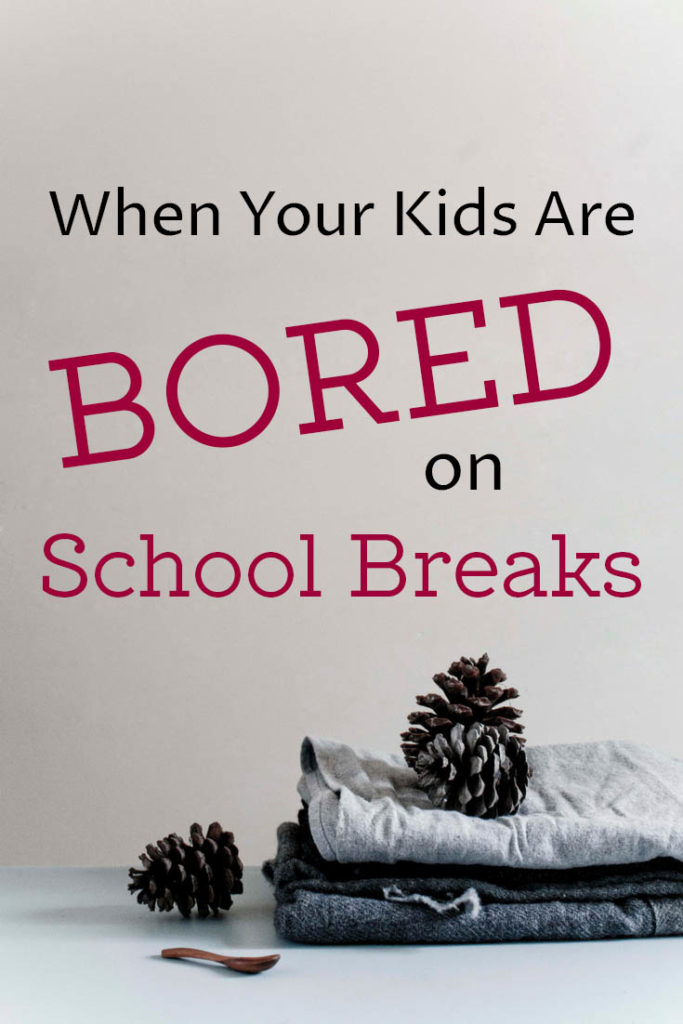 Are your kids bored on school breaks? Here's why it's a problem and what you can do about it. Kids shouldn't be bored, but the solution will surprise you.