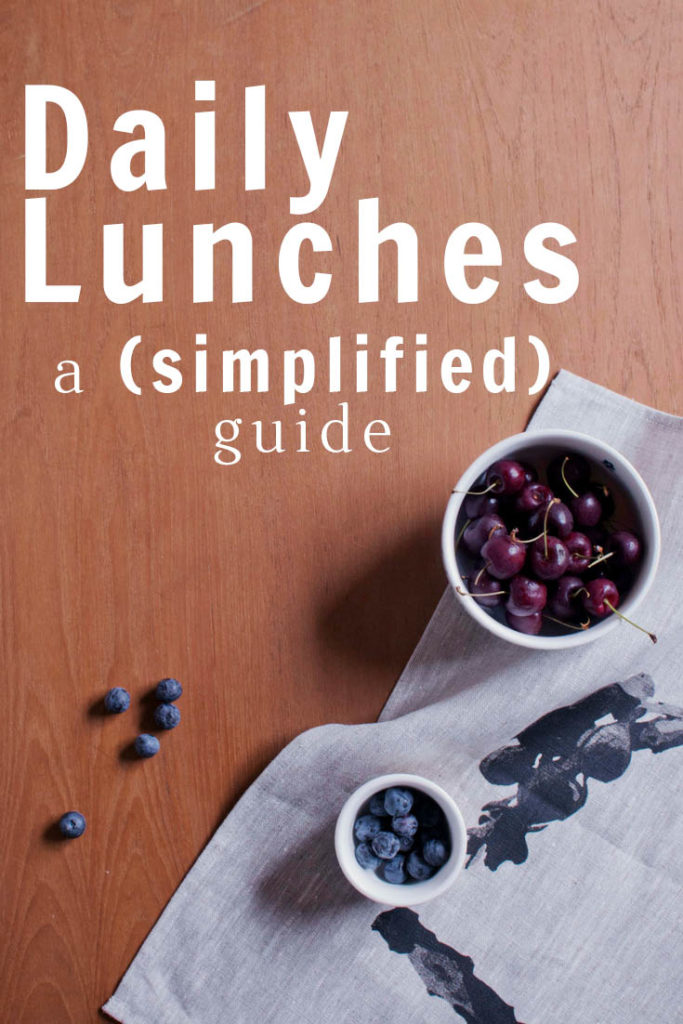 Daily Lunches – a (simplified) guide