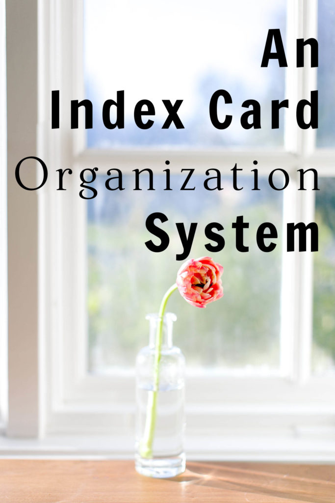 Index Card Organization System