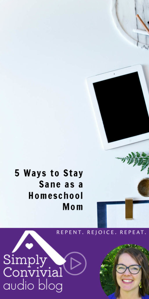 #092: 5 ways to stay sane as a homeschool mom