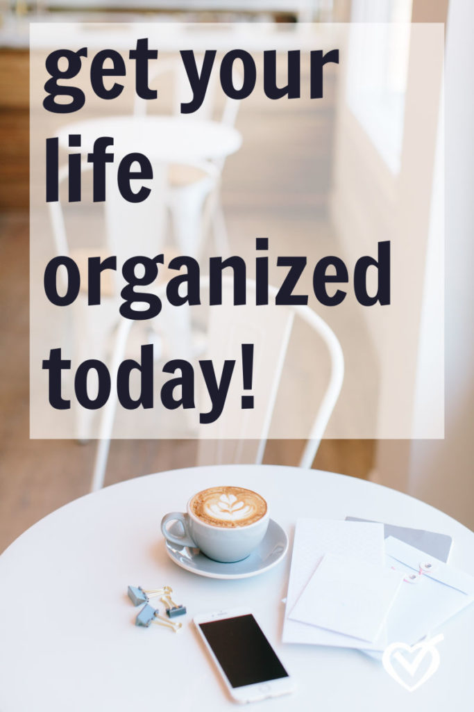 get organized at home today!
