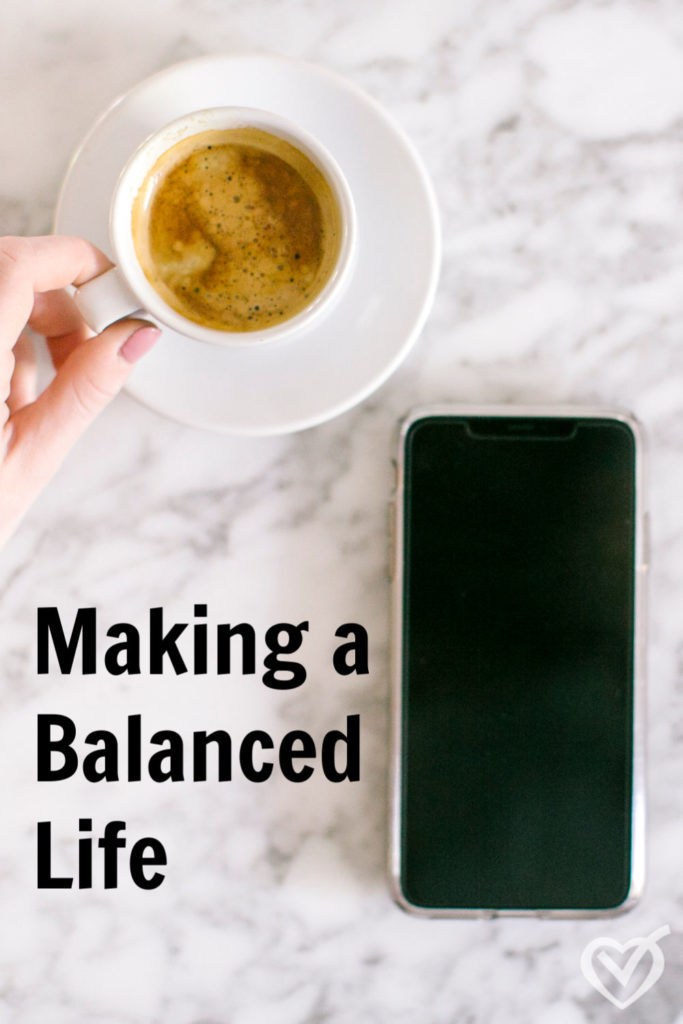 Want to live a balanced life? What does that even mean? This short pep talk explains how to finally find a balanced life as a mom.