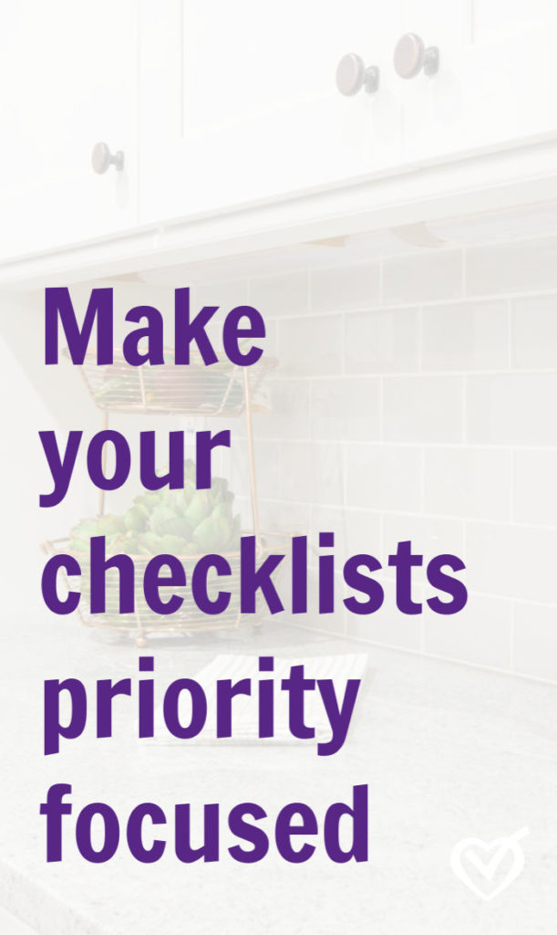 Prioritizing tasks with a smart checklist