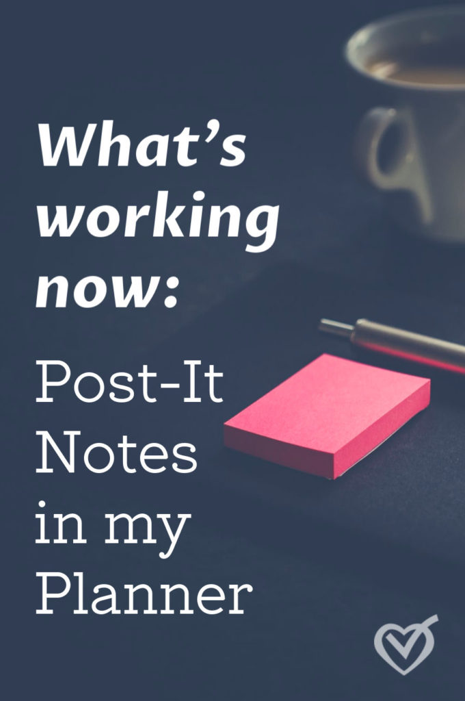 Your planner needs post-it notes. Don't spend more time planning than doing. Post its will help you short cut your planning to action mode.