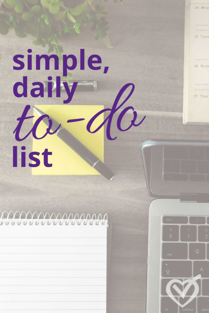 simple daily to do list