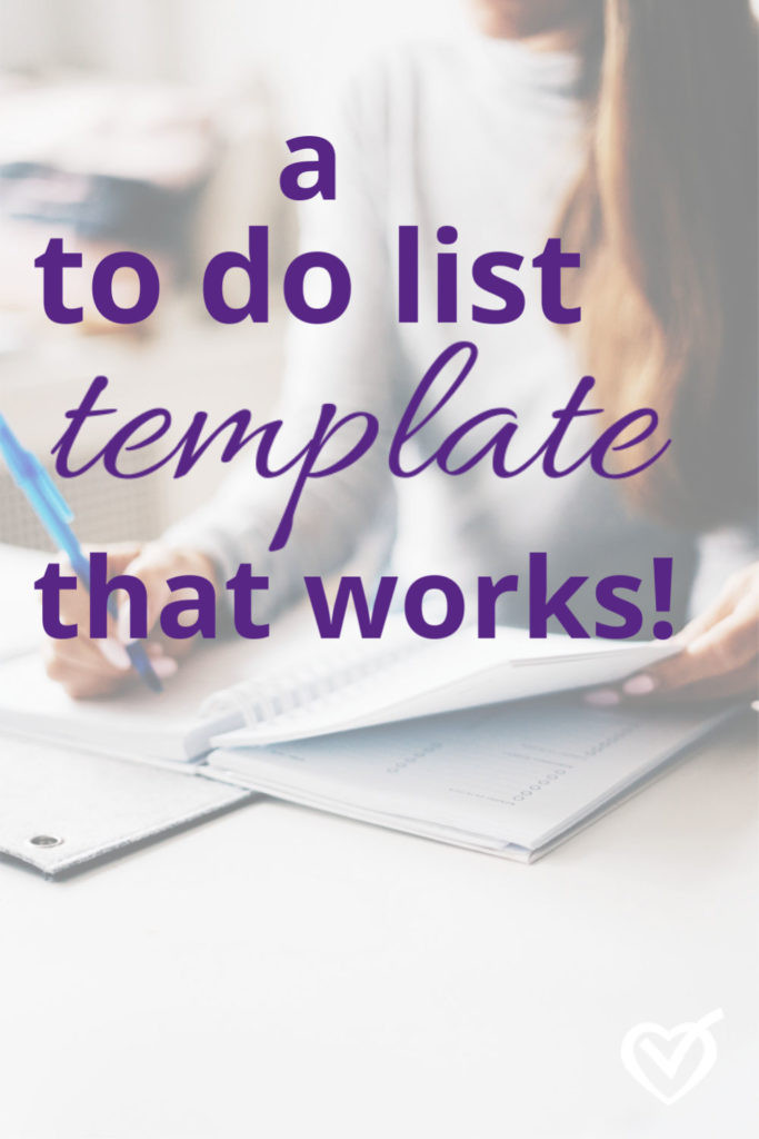 The most effective to do list template