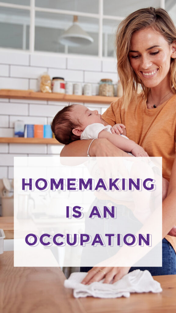 Yes, you can enter homemaker as your occupation even on tax returns and official documents. It is not frowned upon nor is it uncommon. It makes no difference to your taxes. What you enter as your occupation will not affect the calculations in your return in any way.