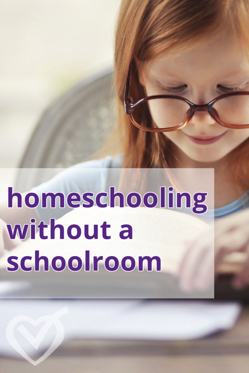 I've homeschooled without a school room for years and I've developed some tips and tricks to help you thrive without a school room.