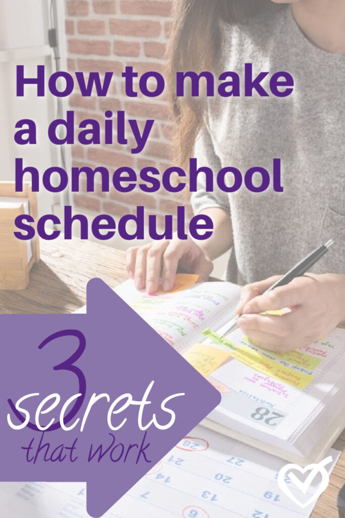 Does the word schedule make you break out in hives, especially when it comes to your homeschool? If there's one thing that trying to live by a schedule teaches us right off the bat, it's that we are not actually in control. And that's a good thing.