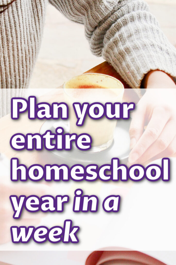 It may sound overwhelming but you CAN plan your entire homeschool year in a week. This allows me to tweak things, but I already know what comes next. The plan is the path forward. It is the reminder of our direction and goal.
